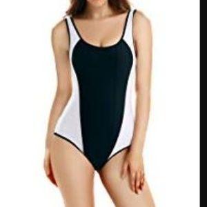 Colorblock One Piece Swimsuit